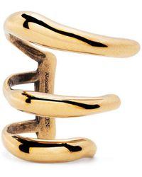 Alexander McQueen Triple Hook Ear Cuff Earring - Metallic