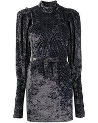 ROTATE BIRGER CHRISTENSEN Ida Gray Velvet Dress
