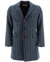 Etro Striped Coat - Blue