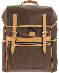Etro Classic Paisley Backpack - Brown