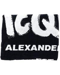 Alexander McQueen Towel - Black