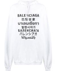 Balenciaga Logo Hoodie - White