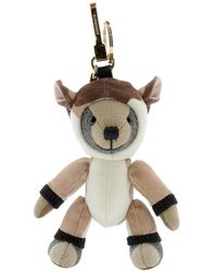 "Burberry ""deer"" Thomas Bear Pendant - Natural"