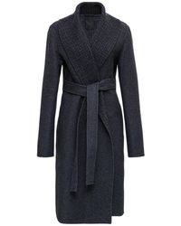 Givenchy Wool And Cashmere 4g Long Coat - Blue