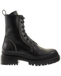 Brunello Cucinelli Matte Calfskin Boots With Precious Contour - Black