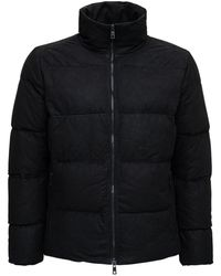 Giorgio Brato Nabuc Black Suede Down Jacket