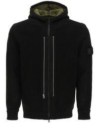 Stone Island Shadow Project Knit Hooded Jacket - Black