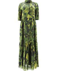 Aspesi Dress With Flounces - Green