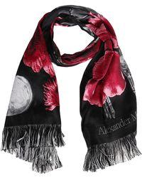 Alexander McQueen Multicolour Wool-blend Scarf - Black
