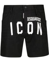 DSquared² Black Denim Shorts
