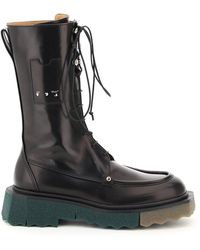 Off-White c/o Virgil Abloh Sponge Pocket Combat Boots - Black