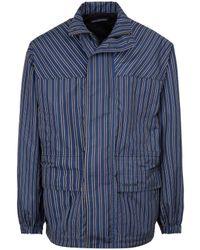 Balenciaga Parka Jacket Coat - Blue