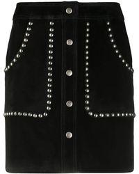 Golden Goose Deluxe Brand Studded A-line Mini Skirt - Black