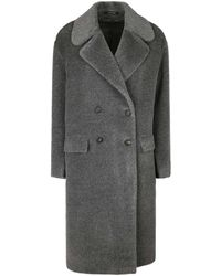 Tagliatore Alpaca And Virgin Wool Coat - Grey