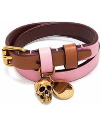 Alexander McQueen Leather Bracelet - Multicolour