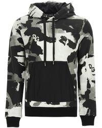 Dolce & Gabbana Camouflage Hoodie 48 Cotton - Black