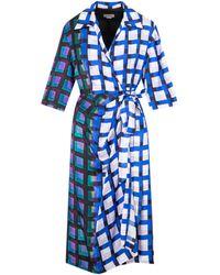 Dries Van Noten Dakola 2069 Dress 34 - Blue