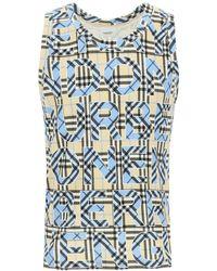 Burberry Lisbon Sleeveless T-shirt S Cotton - Blue