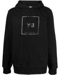 Y-3 Logo-print Cotton Hoodie - Black