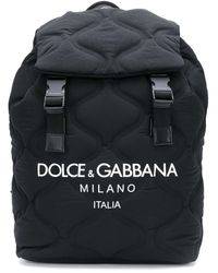 Dolce & Gabbana Dolce&gabbana Wave-quilted Backpack - Black