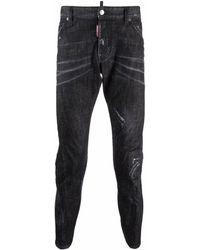 DSquared² Distressed Tapered Jeans - Black