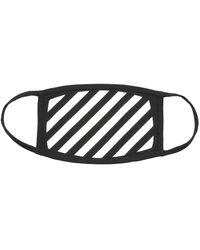 Off-White c/o Virgil Abloh Diag Striped Face Mask - Black