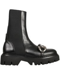 N°21 Leather Boots - Black