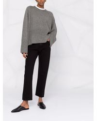 Totême Straight Cropped Jeans - Black