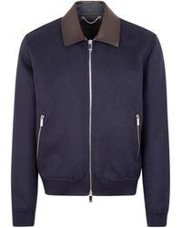 Berluti Wool Blouson Jacket - Blue