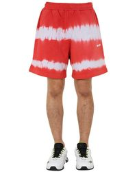 MSGM Bermuda With Coulisse - Red