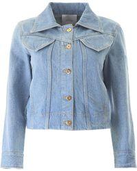 Patou Iconic Denim Shape Jacket - Blue