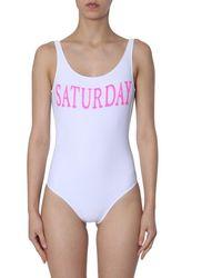 """Alberta Ferretti """"saturday"""" Swimsuit - White"""