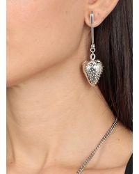 Ambush Strawberry Charm Single Earring - Metallic