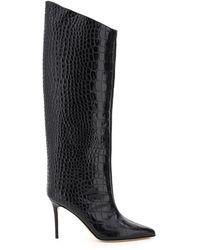Alexandre Vauthier Alex 90 Embossed Boots - Black