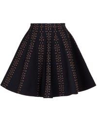 Alaïa Floral Jacquard Mini Skirt - Black