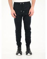 Balmain jogging Trousers With Flocked Logo - Black