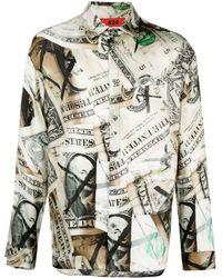 424 Long-sleeve Dollar-print Shirt - Multicolor