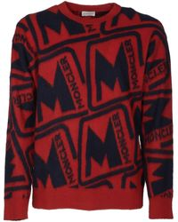 Moncler Jumpers - Red