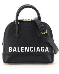 Balenciaga Ville Xxs Bag With Logo - Black