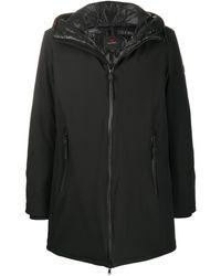 Peuterey Hooded Padded Coat - Black