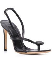 Coperni Leather Sandals - Black