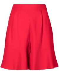 L'Autre Chose Flared High-waisted Shorts
