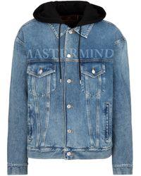 MASTERMIND WORLD Denim Hooded Jacket - Blue