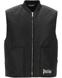 Palm Angels Vest With Logo - Black