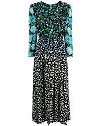 RIXO London Long Floral Silk Dress - Multicolour