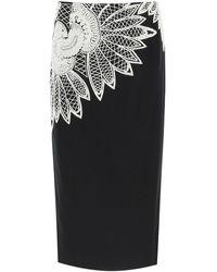 Dries Van Noten - Salby Embroidered Cotton Skirt - Lyst