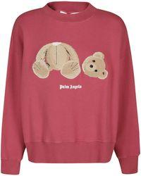 Palm Angels Pink Cotton Sweatshirt - Brown