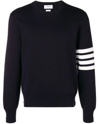 Thom Browne 4-bar Milano Stitch Pullover - Blue