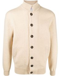 Brunello Cucinelli Button-up Cashmere Cardigan - Natural