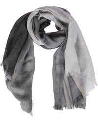 Brunello Cucinelli Grey Cashmere-silk Blend Scarf